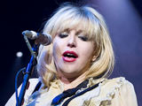 Courtney Love performing live at London's Brixton Academy with band 'Hole'