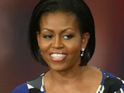 Michelle Obama will discuss a new campaign with Oprah Winfrey on Thursday.