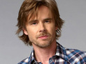 Sam Trammell confesses to having developed a crush on a member of the True Blood team.
