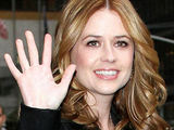 Jenna Fischer outside of the Ed Sullivan Theatre in New York City before making an appearance on the 'Late Show With David Letterman'