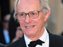 Acclaimed filmmaker Ken Loach is hospitalized after suffering a fall on the set of his new film.