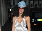 Kelly Rowland outside her hotel in London