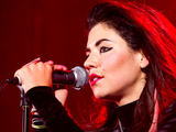 Marina Diamandis of Marina and the Diamonds in concert at the Bloomsbury Ballroom in London