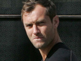 Jude Law out and about in North London