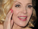 Kim Cattrall shares her disappointment with a reporter who probed for intimate details of her grooming regime.