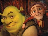 Shrek and Rumpelstiltskin in Shrek Forever After 