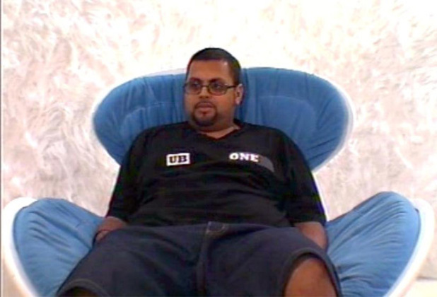 Gos in the BB4 Diary Room chair
