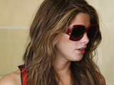 Ashley Greene eats at Menchie's Frozen Yogurt in Studio City