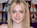 Dakota Fanning receives her diploma from Campbell Hall Episcopal High School.