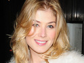 "Rosamund Pike says that she never fell victim to the ""Bond girl curse"" because she was too young."