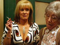 Coronation Street's Liz McDonald's revealing tops have been toned down after the show went HD.