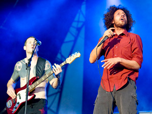 Tim Commerford and Zach De La Rocha of Rage Against The Machine