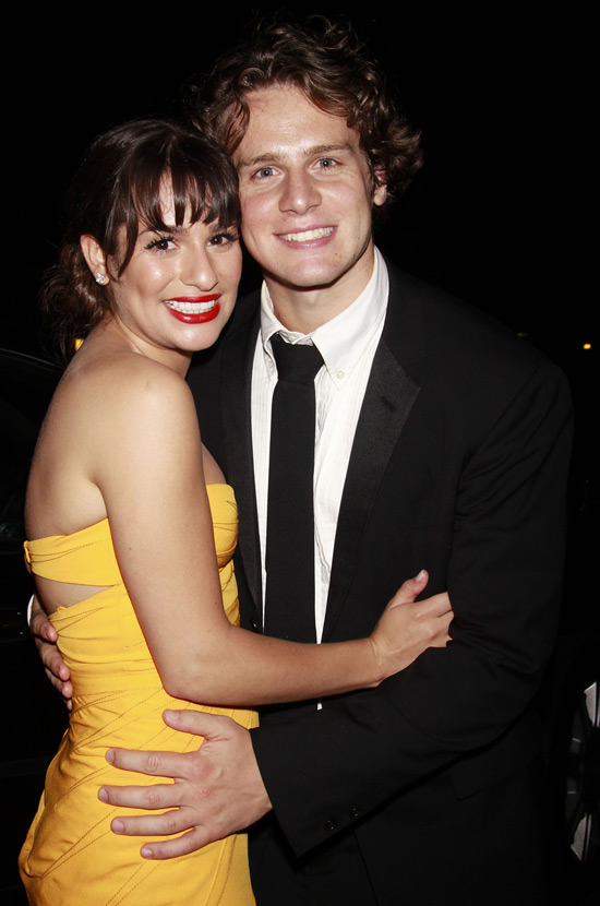 Lea Michele and Jonathan Groff attending the 'American Idiot Post Tony ...