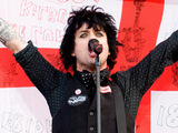 Billie Joe Armstrong of Green Day performing live in concert at Lancashire County Cricket Club, Manchester