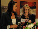 Natasha begins to panic when she receives a bunch of flowers from her dead husband Mark.