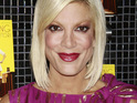 Tori Spelling reveals that her young son is recovering after being taken to hospital.