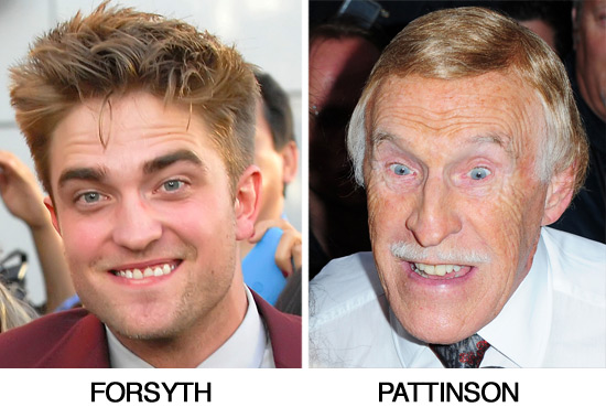 Robert Pattinson and Bruce Forsyth