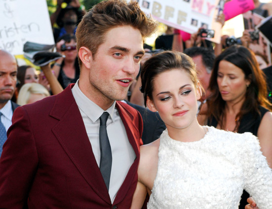 Robert Pattinson and Kristen Stewart at the Twilight Eclipse US premiere