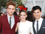 Robert Pattinson, Kristen Stewart and Taylor Lautner at the Twilight Eclipse US premiere