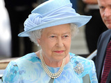 Queen Elizabeth II attending the the Royal Society 350th Anniversary Convocation