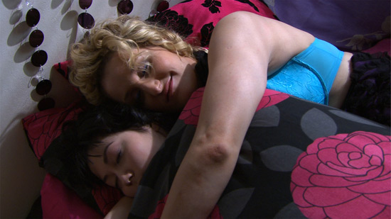 Charlotte and Cheryl in bed