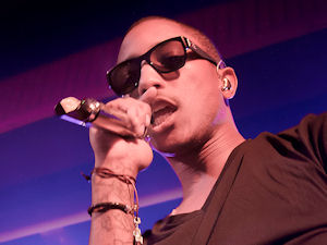 Pharrell Williams of NERD performing live at the Manchester Academy venue in Manchester, England