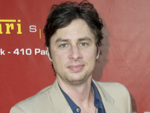 Zach Braff at Ferrari Store Opening on Park Avenue, New York City