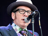 Elvis Costello performing on day 3 of the Hard Rock Calling in Hyde Park, London, England