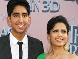 Dev Patel and Freida Pinto attending the premiere of 'The Last Airbender' held in New York City