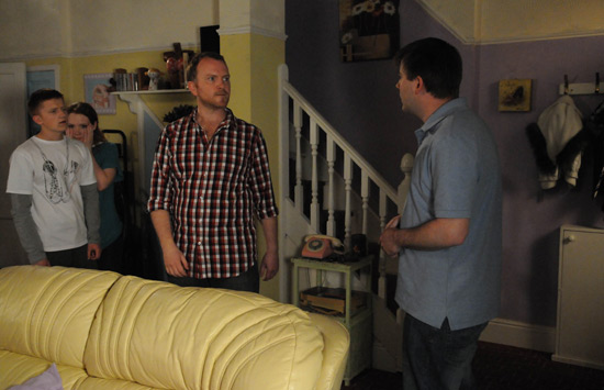 Luke turns up to confront John.