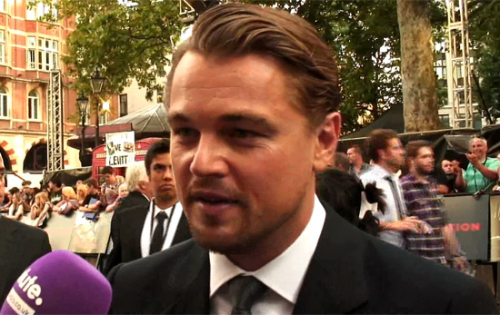 Leonardo DiCaprio at the Inception premiere