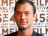 Jude Law attends a photocall during the 45th International Carlsbad film festival