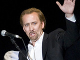 Nicolas Cage at a Q and A with the actors from &#39;The Sorcerer&#39;s Apprentice&#39;