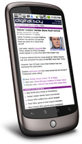Digital Spy on a Nexus One