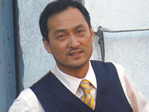 Ken Watanabe filming Inception
