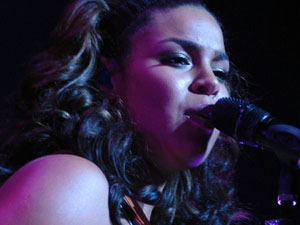 Jordin Sparks performs at Club Nokia as part of her Battlefield tour