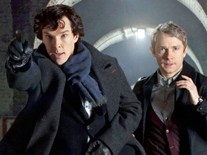 Sherlock Holmes and John Watson in Sherlock