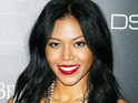 American R&B singer Ameriie weds music executive Lenny Nicholson in Anguilla yesterday.
