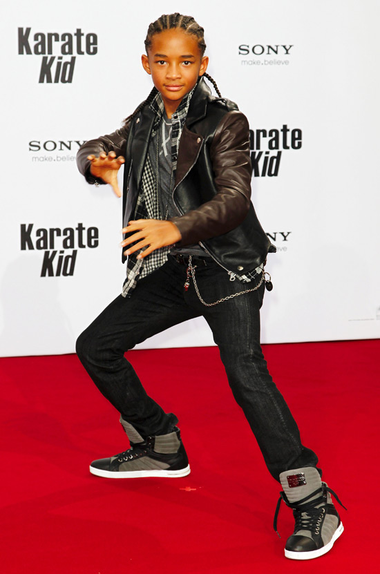 Jaden Smith at the premiere of 'The Karate Kid' in Berlin, Germany.
