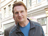 Liam Neeson outside BBC Radio 1 studios