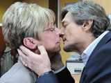 Lewis kisses Deirdre