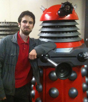 Morgan Jeffrey and a Dalek