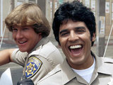 Larry Wilcox and Erik Estrada in CHiPs