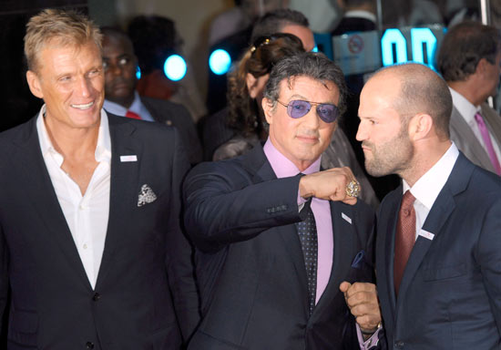 Dolph Lungren, Sylvester Stallone and Jason Statham