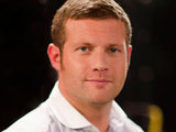 Dermot O'Leary presenting The X Factor