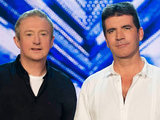 Louis Walsh and Simon Cowell judging The X Factor