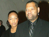 Montana Fishburne, with her father Lawrence