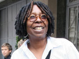 Whoopie Goldberg outside Claridges