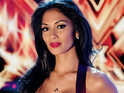Nicole Scherzinger criticizes Simon Cowell for keeping Katie Waissel in The X Factor.