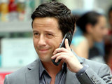 Ross McCall whilst filming for 'White Collar'